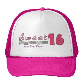 Sweet Sixteen Pink (customizable) Mesh Hats