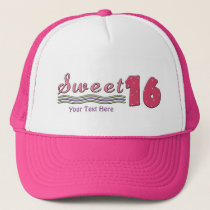 Sweet Sixteen Pink (customizable) Trucker Hat