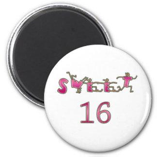 Sweet Sixteen Pink Fridge Magnets
