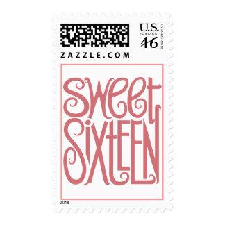 Sweet Sixteen Pink Stamp