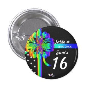 Sweet Sixteen Place Celebration's Button_Cust. Pinback Button