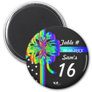 Sweet Sixteen Place Celebration's Magnet-Cust. 2 Inch Round Magnet