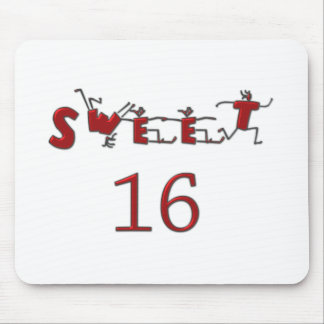 Sweet Sixteen Red Mouse Pad