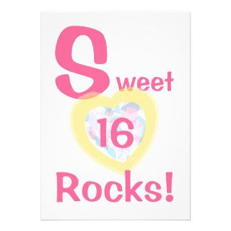 Sweet Sixteen Rocks Invitation-Customize