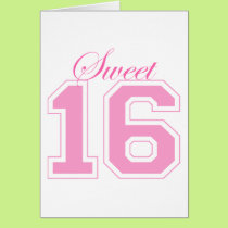 Sweet Sixteen (Script) Card
