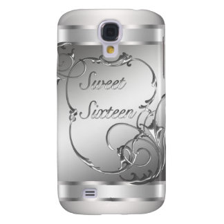 Sweet Sixteen Silver 16th Birthday Phone Galaxy S4 Case