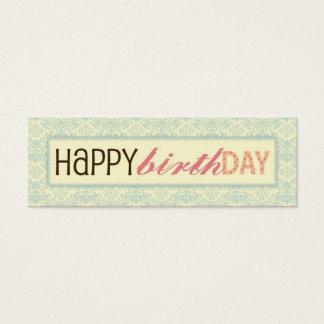 Sweet Sixteen Skinny Gift Tag Mini Business Card