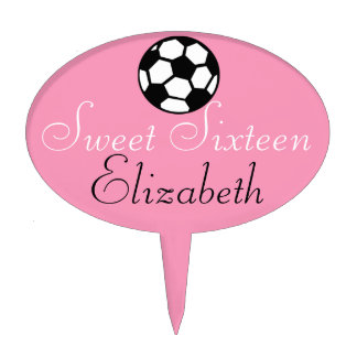 Sweet Sixteen-Soccer Ball Cake Topper