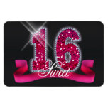 Sweet Sixteen Sparkle Magnets