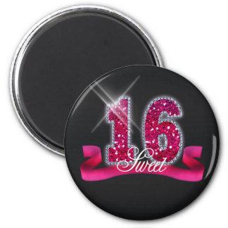 Sweet Sixteen Sparkle Pink ID117 2 Inch Round Magnet