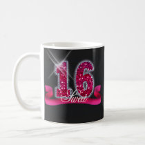 Sweet Sixteen Sparkle Pink ID117 Coffee Mug