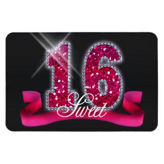 Sweet Sixteen Sparkle Pink ID117 Rectangular Photo Magnet