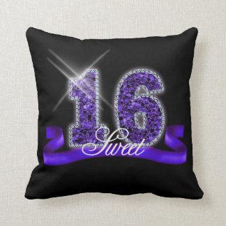 Sweet Sixteen Sparkle Purple ID119 Throw Pillow