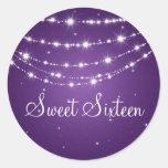 Sweet Sixteen Sparkling Chain Purple Sticker