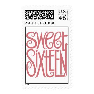 Sweet Sixteen Stamp