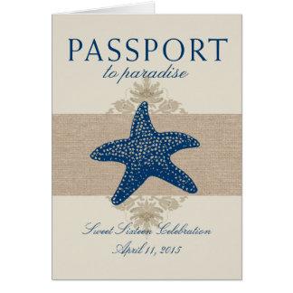 Sweet Sixteen Starfish Passport to Mexico Card