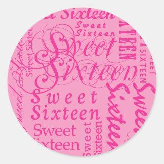 Sweet Sixteen Stickers