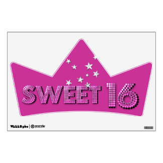Sweet Sixteen Sweet 16 16th Birthday Party Wall Decal