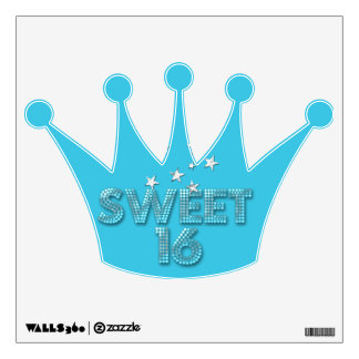 Sweet Sixteen Sweet 16 16th Birthday Party Wall Sticker