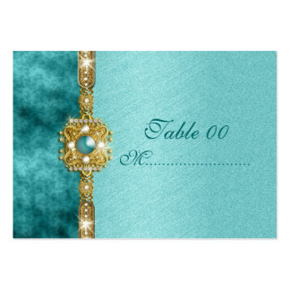 """sweet sixteen"" teal gold 16 birthday large business card"