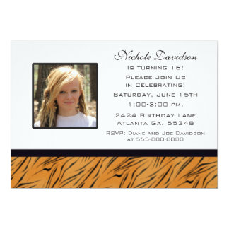 Sweet Sixteen Tiger Party Invitation