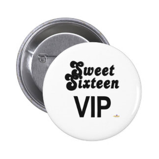 Sweet Sixteen VIP Black And Silver Button