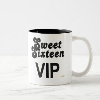 Sweet Sixteen VIP Black And Silver Two-Tone Coffee Mug