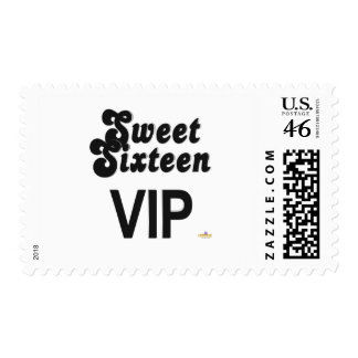 Sweet Sixteen VIP Black And Silver Postage