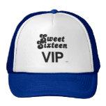 Sweet Sixteen VIP Black And Silver Trucker Hat
