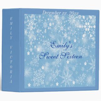 Sweet Sixteen Wedding Winter Memories Album 3 Ring Binders
