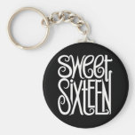 Sweet Sixteen white Keychain