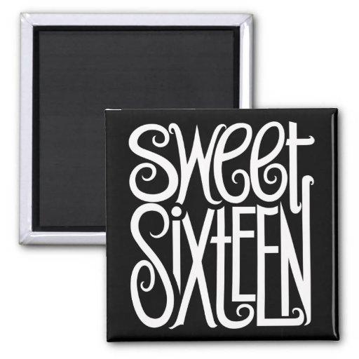 Sweet Sixteen white Magnet