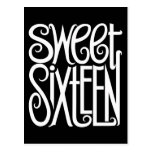 Sweet Sixteen white Postcard
