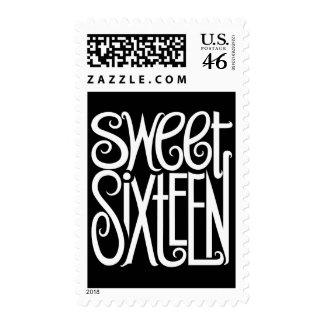 Sweet Sixteen white Stamp