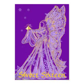 Sweet Sixteen Winter Butterfly Trans.  Invitation