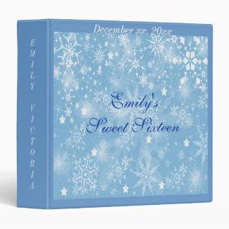 Sweet Sixteen, Winter Wedding, Photo Album 3 Ring Binder