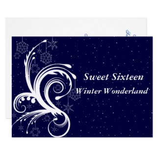 Sweet Sixteen, Winter Wonderland, Invitation