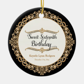 Sweet Sixteenth Birthday Party Celebration Decor Christmas Ornaments