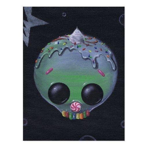 sweet skull 9 postcard