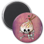 Sweet Skull Cupcake 2 Inch Round Magnet