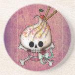 Sweet Skull Cupcake Beverage Coasters