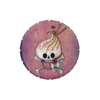 Sweet Skull Cupcake Candy Tins