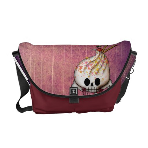 Sweet Skull Cupcake Courier Bags