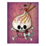 Sweet Skull Cupcake Postcard