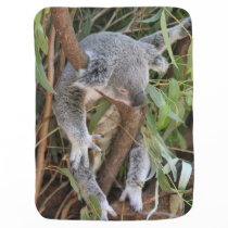 Sweet Sleeping Koala Bear Baby Blanket