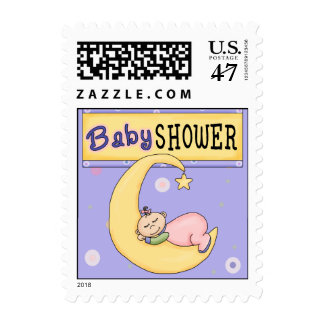 Sweet Sleepy Baby Shower Postage Stamp