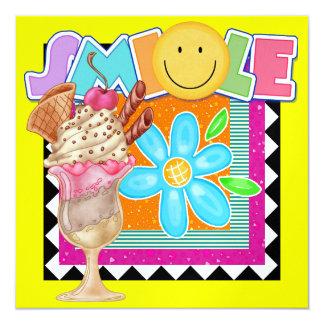 Sweet Smile ! - SRF 5.25x5.25 Square Paper Invitation Card