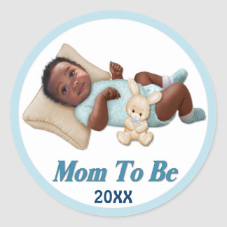 Sweet Smiles - Mom To Be Round Stickers