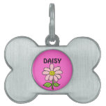 Sweet Smiling Daisy Pet Name Tags