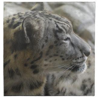 Sweet Snow Leopard Printed Napkin